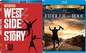 Rooftop Musicals The Fiddler on the Roof Blu Ray + DVD The West Side Story Set Movie Double Feature Bundle