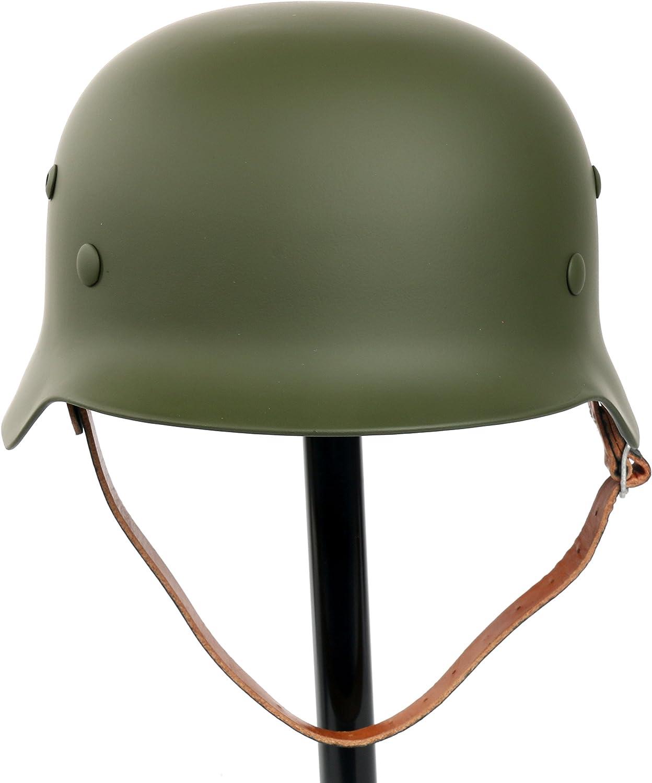 Los mejores precios y los estilos más frescos. YaeTek negro WW2 - - - Casco de acero con forro de piel y correa de barbilla, Diseño del ejército alemán M35 M1935  estar en gran demanda