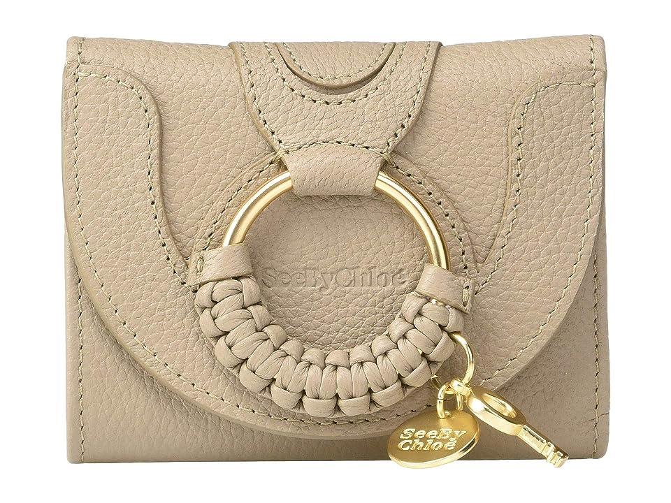 See by Chloe Hana Leather Wallet (Motty Grey) Handbags