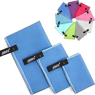 comprar comparacion ACTiDRY Set de toallas de microfibra ActiDry 3+1 (70x140, 40x60, 30x40 cm + bolsa) - ligero y absorbente - 9 colores - ide...