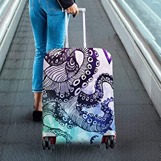 Suitcase Protectors Dust Proof Luggage Covers Fit 18-28 Inch Luggage Octopus with polygon crystal