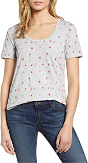 Lucky Brand womens ALLOVER PRINTED DICE TEE T-Shirt