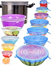 longzon Silicone Stretch Lids 14 Pack Include 2Pcs XXL Size up to 9.8'' Diameter, Reusable Durable Food Storage Covers for...