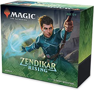 Pacote de Magic. The Gathering Renascer de Zendikar, 10 boosters de draft (150 cards), Terrenos metalizados, Acessórios, P...