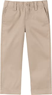 khaki uniform pants with elastic waist