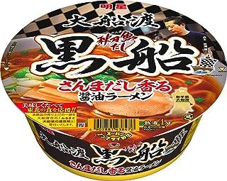 明星 大船渡秋刀魚だし黒船 さんまだし香る醤油ラーメン 97g ×12個