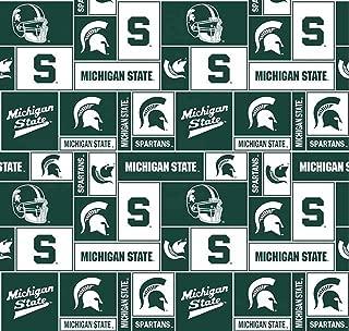 Michigan State University Spartans Fleece Fabric - 60
