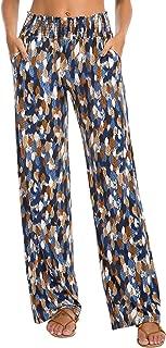 Women's Boho Palazzo Pants Wide Leg Lounge Pants