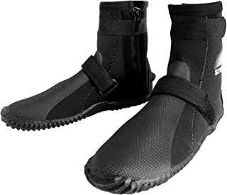 3mm Neoprene Watersports Diving Boots with Rubberized Sole for Snorkeling, Scuba Diving, Wakeboarding, Kayaking, Canoeing