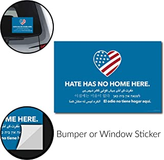 Signs Of Justice Hate Has No Home Here Bumper Sticker (6
