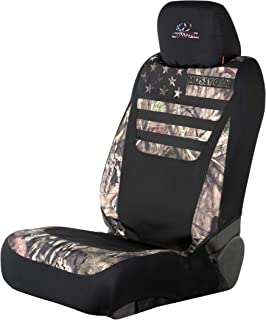 Mossy Oak Low Back Camo Seat Cover   Country/Stripes   Single