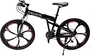 Folding Mountain Bike 21 Speed Hard Tail Front and Rear V Cable Disc Brakes Foldable Easy to Store Foldable no Need for ro...