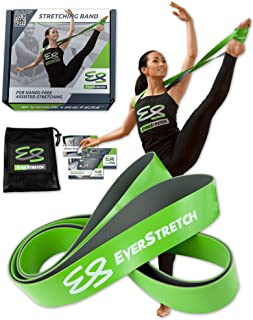 EverStretch Ballet Stretch Band, Don't Settle for Less: Premium 2-Layer Dance Stretch Band for Hands Free Flexibility Training. Ballet Band Stretching Equipment for Dance, Cheer and Gymnastics.