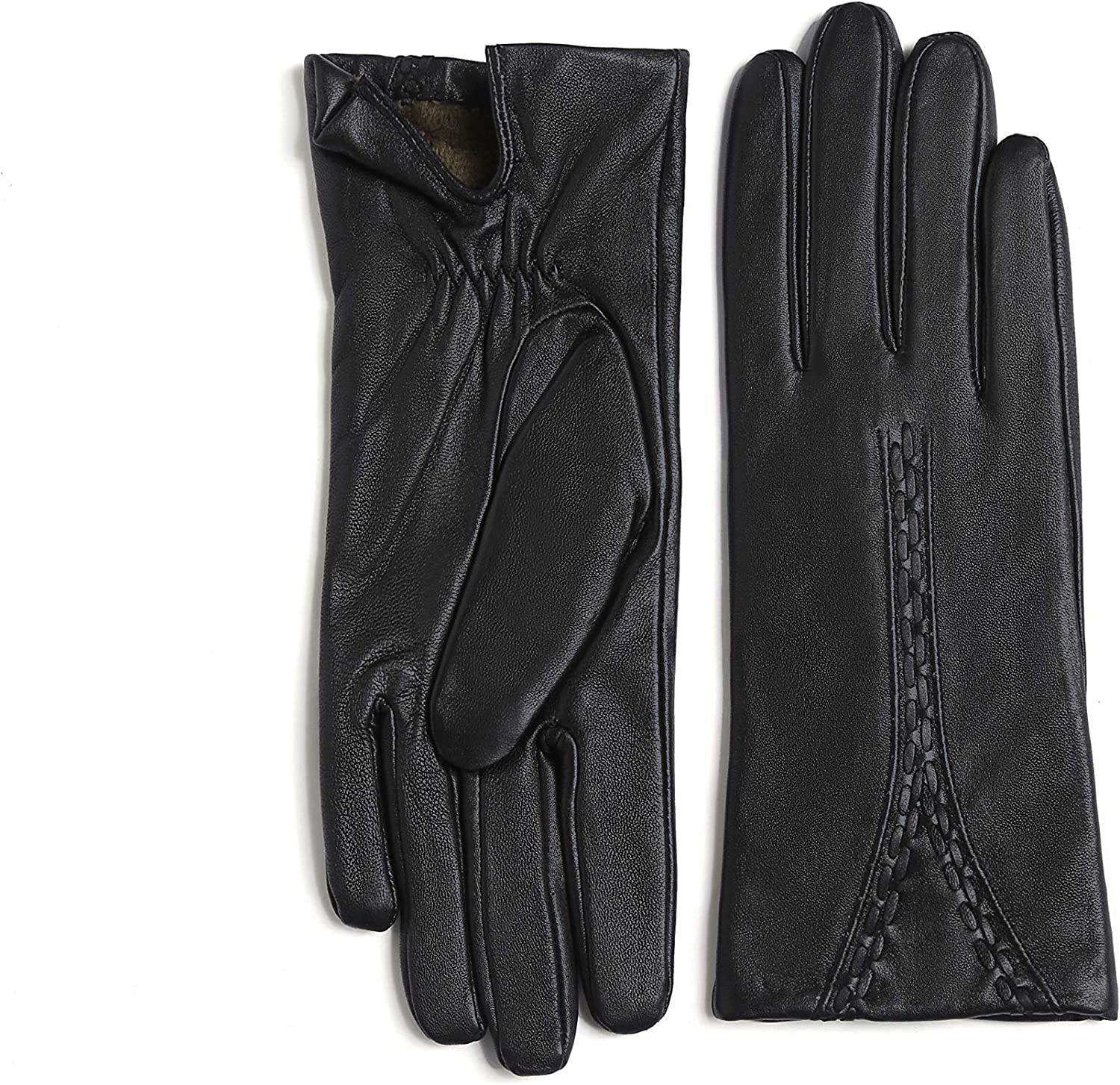 YISEVEN Women's Winter Touchscreen Leather Fleece Cheap mail Max 83% OFF order specialty store Driving Gloves