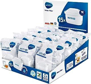 BRITA Maxtra Lot de 15 cartouches filtrantes compatibles avec toutes les carafes Brita pour réduire le chlore et le calcaire.