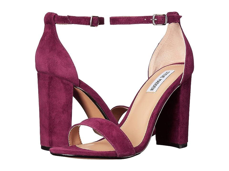 Steve Madden Carrson Heeled Sandal (Burgundy Suede) High Heels