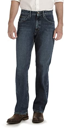 Lee Uniforms Men's Big & Tall Custom Fit Loose Straight Leg Jean