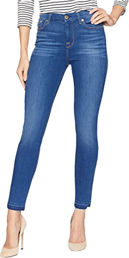 B(Air) High-Waisted Ankle Skinny w/ Released Side Hem Splits in Manhattan