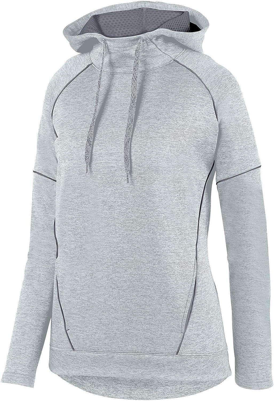 Augusta Sportswear Women's Zoe Tonal Heather Hoody Silver Graphite