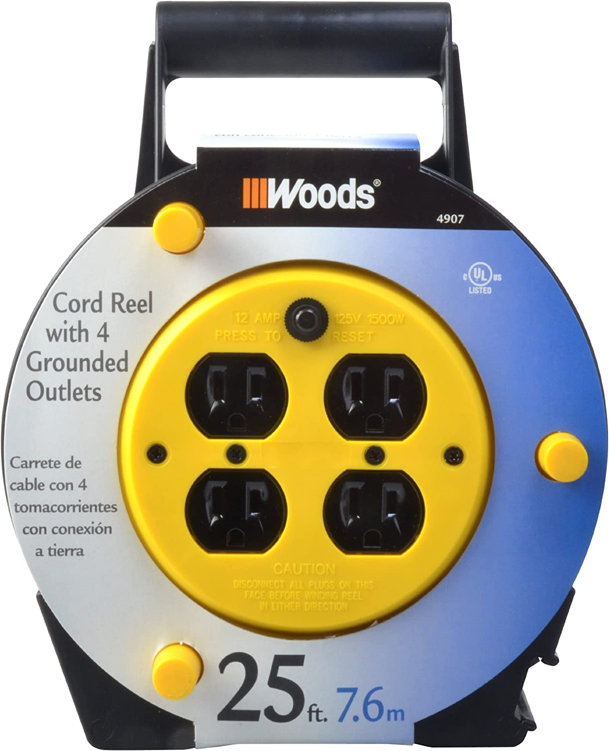 Woods 25' 4 Outlets Extension Cord Reel $17  Coupon