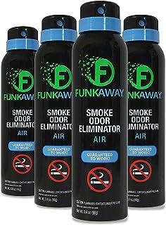 FunkAway Smoke Odor Eliminator Spray, 3.4 oz. (Pack of 4)| For Air | Works On All Types Of Smoke Odors (FASM3.4/4)