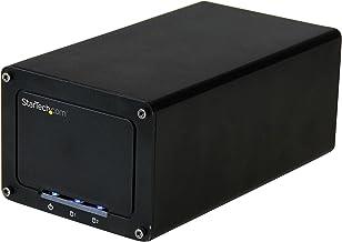 "StarTech.com USB 3.1 (10Gbps) External Enclosure for 2.5"" SATA Hard Drives - RAID - 2-Bay USB Type-C Hard Drive Enclosure ..."