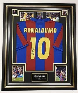 Rare Ronaldinho of Barcelona Signed Shirt
