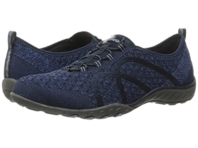 SKECHERS Breathe-Easy Fortuneknit (Navy) Women