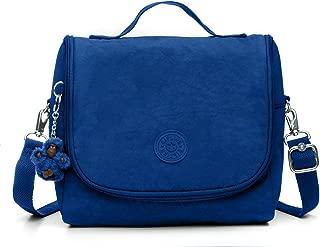 Kichirou Insulated Lunch Bag, Removable, Adjustable Crossbody Strap, Zip Closure, Blue Tropics Tonal