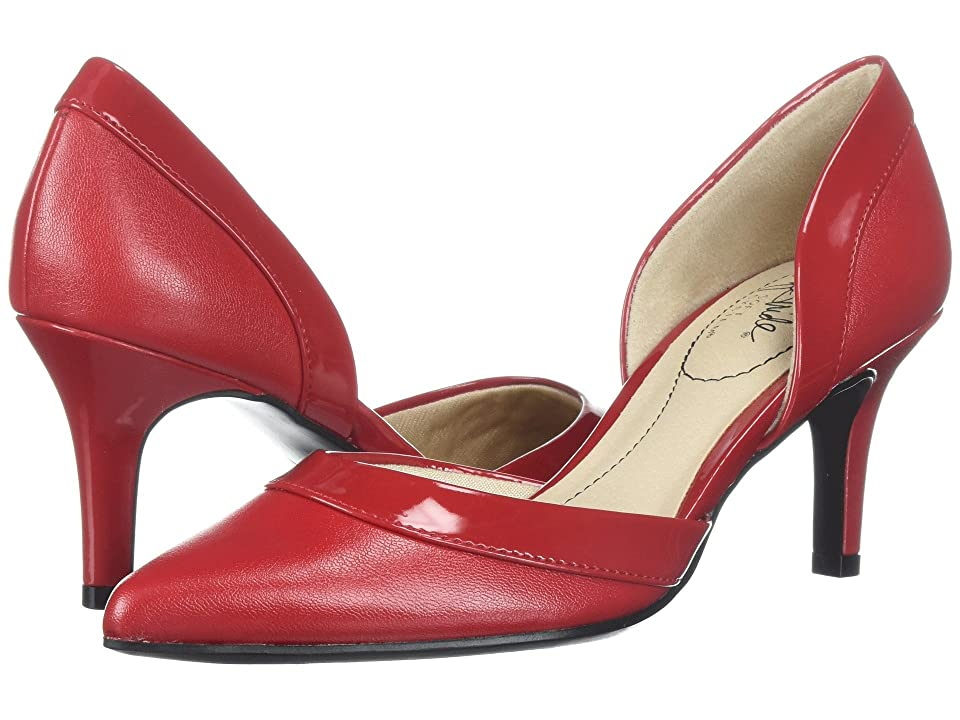 1950s Style Shoes | Heels, Flats, Saddle Shoes LifeStride Saldana Fire Red Womens  Shoes $59.94 AT vintagedancer.com