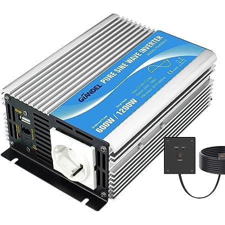 Giandel Power Inverter Sinuswellen Wechselrichter 600 W Elektronik