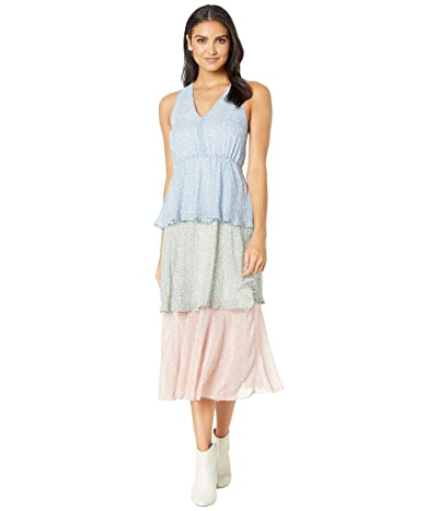 Sam Edelman Tiered Maxi Dress (Pastel Multi) Women