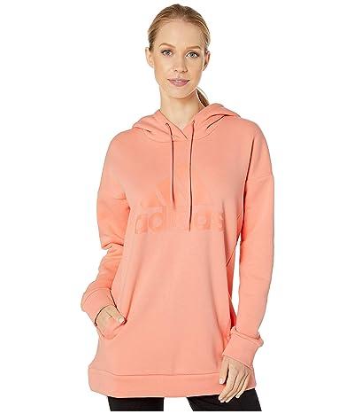 adidas Must Have Badge of Sport Hoodie (Glow Pink) Women
