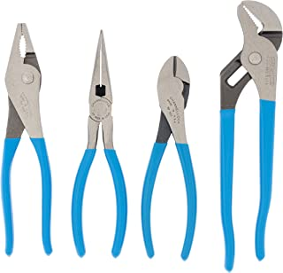 Channellock PC-2  Pro's Choice Plier Kit with Bonus Tool Tray for convenient storage, 4-Piece 9-1/2 Inch Tongue and Groove, 8-Inch Heavy Duty Slip Joint, 8-Inch Long Nose, and 7-Inch High Leverage Diagonal Cutter