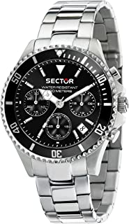 Men's 230 Analog-Quartz Stainless-Steel Strap, Silver, 18 Casual Watch (Model: R3273661009)