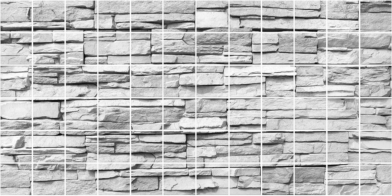 Apalis fliesenwandbild Bunte Bruchstein Mauerwerk, Fliesen Größe Größe Größe  15 cm x 15 cm; Maße  60 cm x 120 cm B01J3NW6CY a5dd03