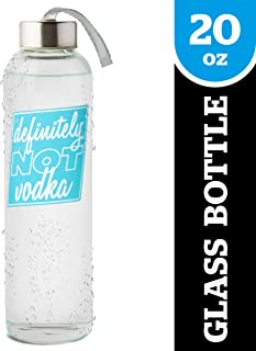 BigMouth Inc Water Bottle, Glass Drinking Bottle Holds 20oz - Perfect for Home or Office, Makes a Great Gift