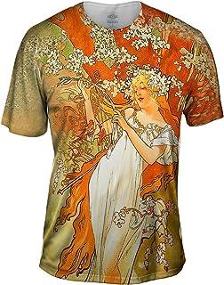 Yizzam- Alphonse Mucha - Spring (1896) -Tshirt- Mens Shirt