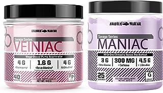 Maniac (Grape) and Veiniac (Fruit Punch) by Anabolic Warfare Pump and Energy Bundle