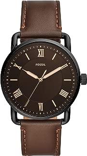 fossil leather bracelet watch