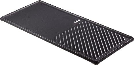 Monroe Pro 4 43 cm x 32 cm nervur/ée et lisse plaque de gril noir//gris accessoire de barbecue utilisable des deux c/ôt/és Enders Plaque de cuisson en fonte 1//2 7893 Boston 4 barbecue /à gaz