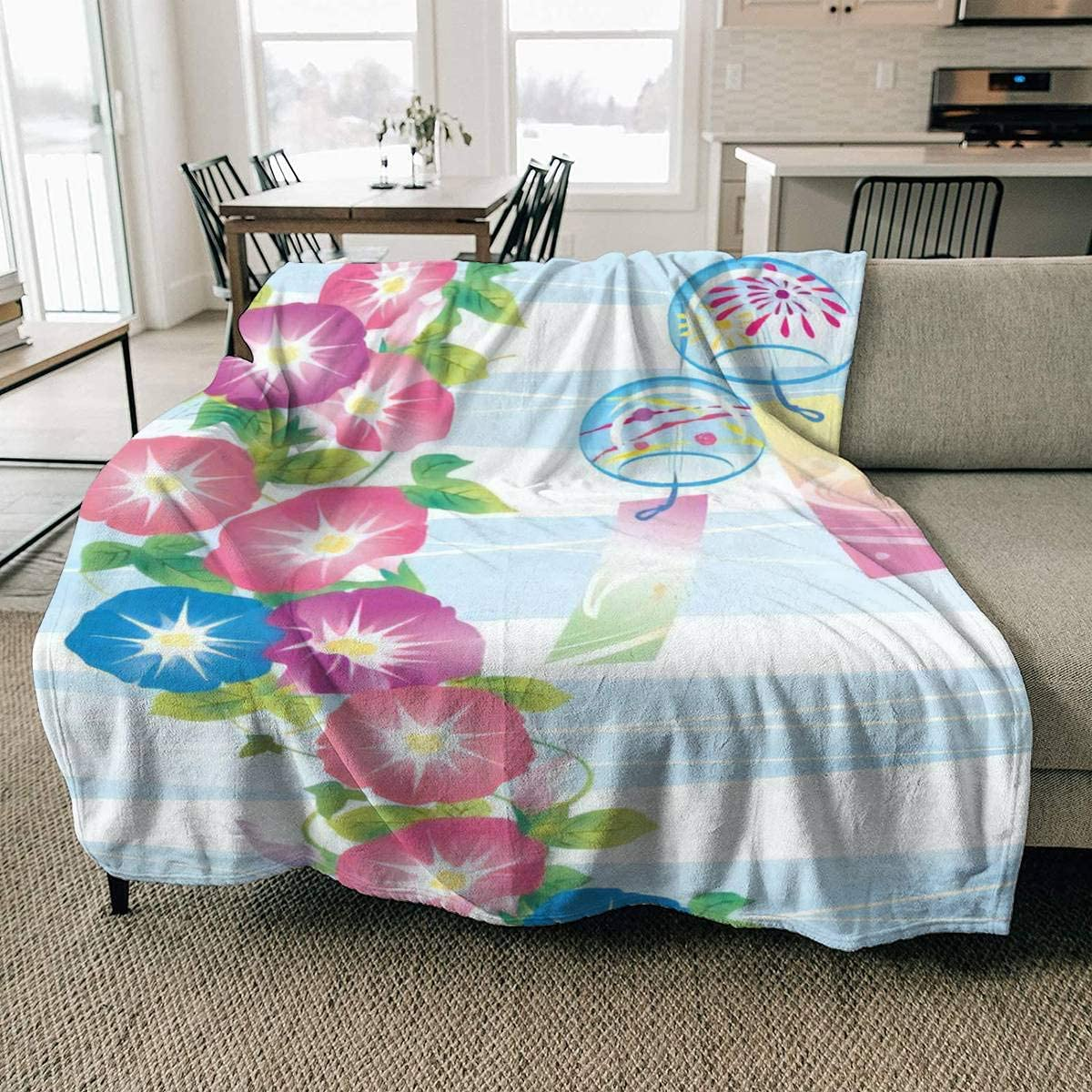 Fleece Super sale period OFFicial mail order limited Blanket It is an Illustration Japanese Summer Morning of
