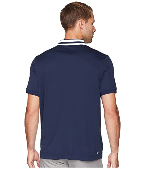 Short Fine Front amp; w Ultra Collar Pique Lacoste Stripe Dry Zip Sleeve Jacquard Placket dqwxX7