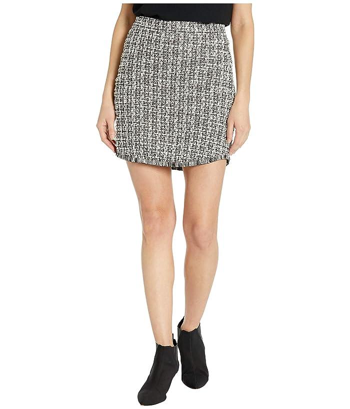 BB Dakota  Its Blair High-Waisted Knit Tweed Skirt (Black) Womens Skirt