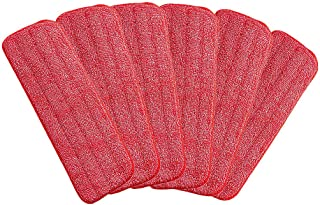 Microfiber Mop Replacement Pads for Wet/Dry Mop Floor Cleaning Pad Fit All Spray Mops (6 Pack)