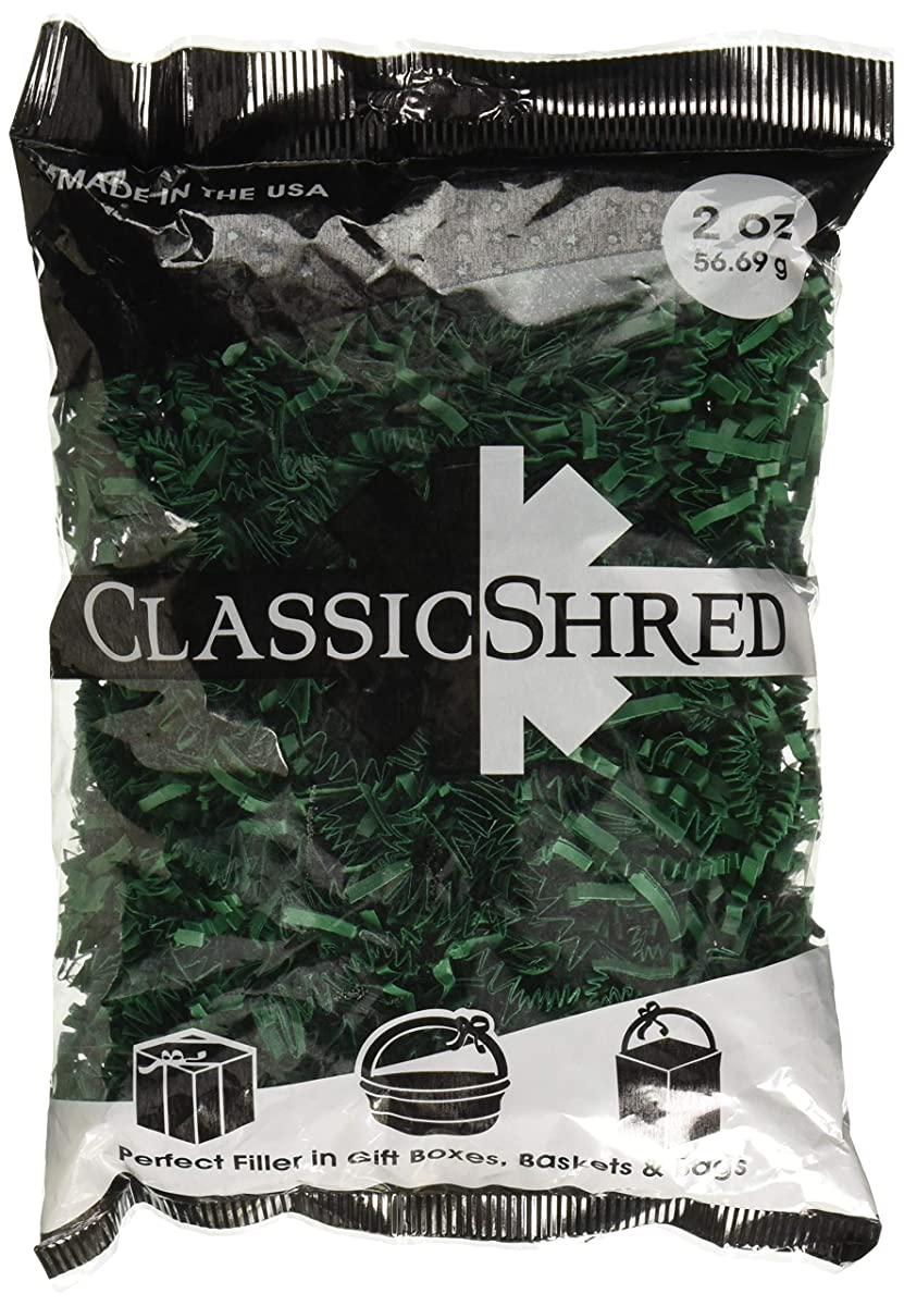 SPRING-FILL C2 ozFGHS-P Paper Shred, 2 oz, Forest Green
