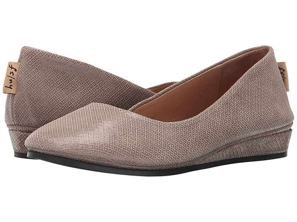 French Sole Zeppa Flat (Taupe Box Print) Women