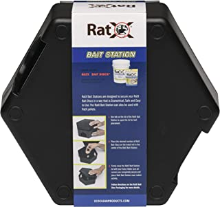 EcoClear Products 620302, RatX Rodent Bait Station/Box, Plastic Weatherproof, Large Size Suitable for Rats or Mice