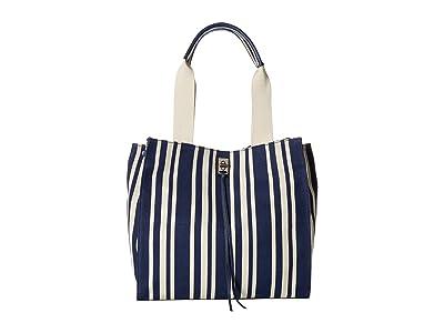 Rebecca Minkoff Darren Tote (Navy Stripe) Tote Handbags