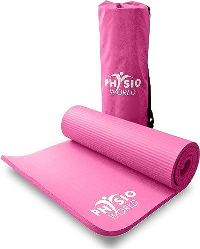 PhysioWorld Tapis d'exercice épais pour Sport Pilates